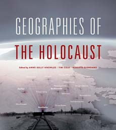 "Image of a book cover that reads, ""Geographies of the Holocaust"""