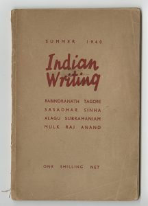 "Cover of a publication that reads ""Indian Writing"""